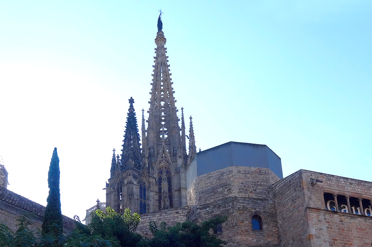 dome of the cathedral of Barcelona