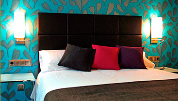 A king size Bed in Barcelona hotel Lloret